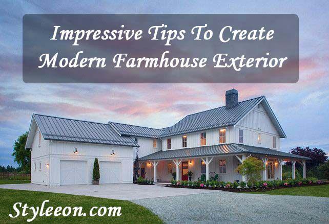 Modern Farmhouse Exterior   Styleeon   Fashion   Home