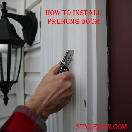 How to install a prehung door  styleeon fashion