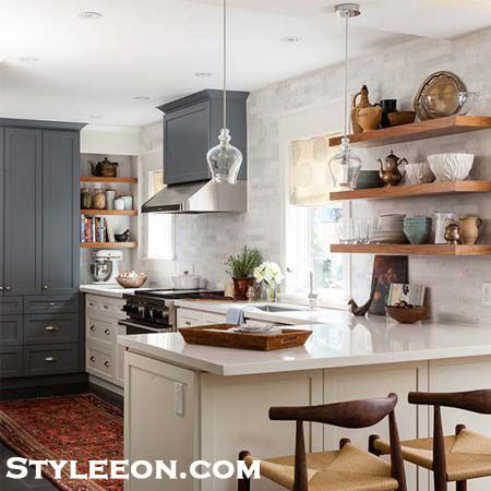 Open Shelves - Kitchen Decor - Styleeon