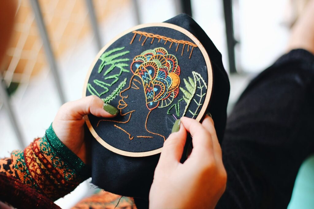 How To Frame Hand Embroidery