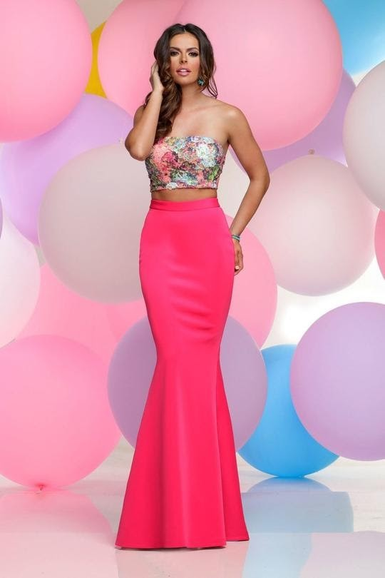 Strapless Two-Piece Fitted Gowns